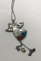 """Colorful Charms- Angel """" Never drive faster than your guardian angel can fly"""""""
