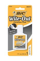 Wite-Out Correction Fluid with Foam Brush